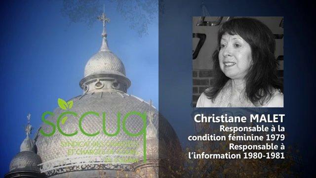 Hommage à Christiane Malet