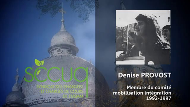 Hommage à Denise Provost