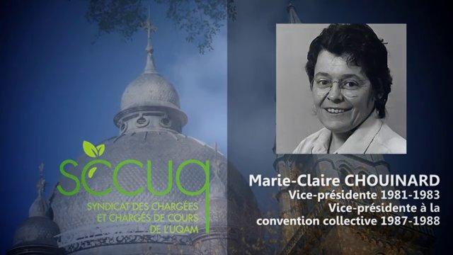 Hommage à Marie-Claire Chouinard