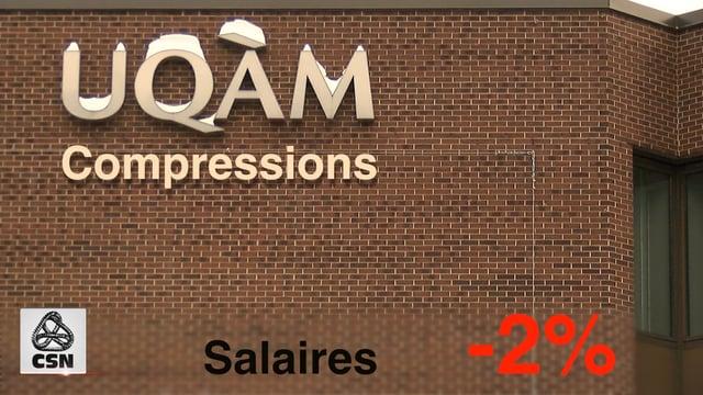 UQAM : NON aux compressions annoncées