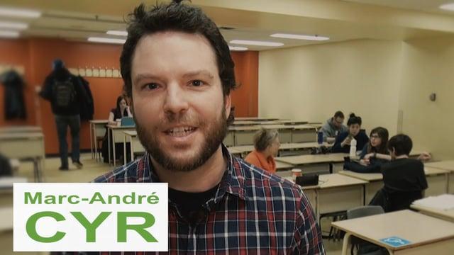 Des précaires chargés de passion : Marc-André Cyr